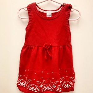 Adorable Carter's red dress. Perfect condition